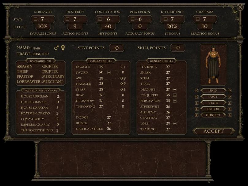 character sheet finished